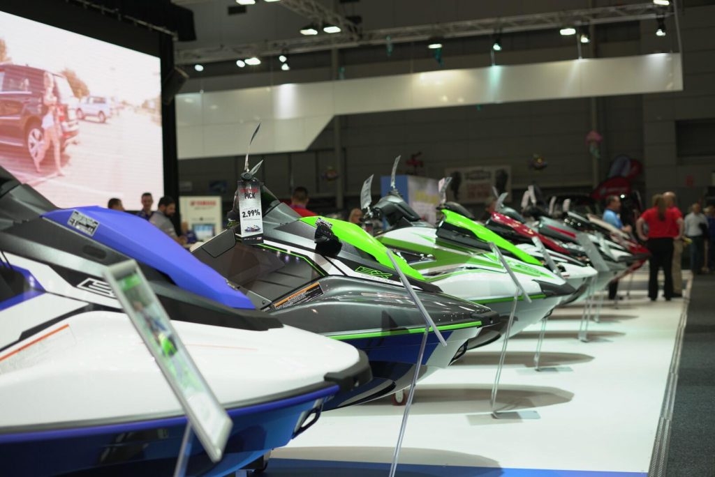 Yamaha Jetskis Lined up.
